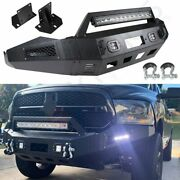 Aggressive Style - Front Winch Bumper Built-in Lights For Dodge Ram 1500 2013-18