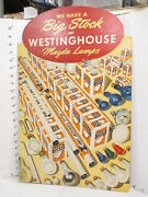 Westinghouse Electric Light Bulb Mazda 1930s Store Display Sign Flourescent