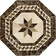 Octagon Marble Dining Table Top Antique Design Hallway Table For Home 36 Inches