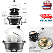 Electric Egg Cooker Boiler 6 Pcsand Poacher Food And Egetable Steamer Easy Fast