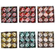 9 Pieces Of Painted Christmas Balls To Decorate The Christmas Tree Pendand