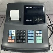 Sharp Xe-a106 Electronic Cash Register W/register Key Working Condition