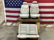 94-98 Ford Mustang Convertible Leather Seat Set Front/rear Oxford White 4z