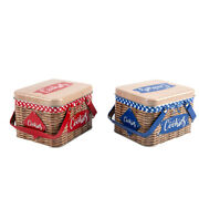 Print Pattern Hand-held Storage Box Portable Biscuit Chocolate Candy Tin Box Mn
