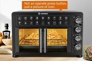 Large Air Fryer Oven Convection Toaster Rotisserie Bake Countertop Black Us New