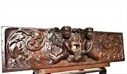 17 Th Century Angel Scroll Carving Pediment Antique French Architectural Salvage
