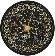 Black Marble Kitchen Table Marquetry Art Dining Table Top From Cottage Art 42