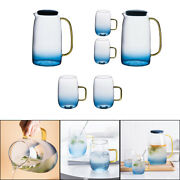 1400ml Water Pitcher With Lid And Spout Drinking Cup Mug Tumblers Carafe