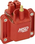 Msd 8226 Red Bolt-on Dual Connector Blaster Ignition Coil For Camaro Firebird Gm