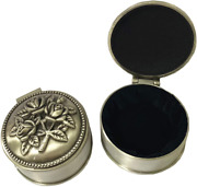 Tang Song 2 Pcs Small Metal Jewelry Box Classic Vintage Antique Ring Box Trinket