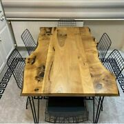 Handmade Wooden Working Dining Center Conference Table Top Handmade Outdoor Deco