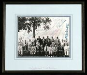 1970s Hall Of Famers Gathering At Cooperstown Signed Photo 22 Signatures Rare