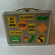 Vintage Lunch Boxes Street Signs Rare -no Thermos