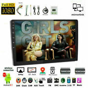 10and039and0392 Din Car Radio Gps Tactile Siri Ios Mirror Link Android Airplay Fm Wifi Bt