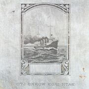 American Bank Note Company Bath Iron Works Ltd Printing Plate Steampship