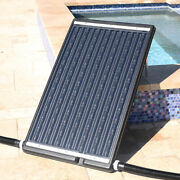 Solar Heater Flat-panel Pool For Above In-ground Swimming Pool W/ Adjustable Leg