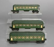Lionel 6440s Vintage O Two-tone Green Passenger Cars 6440, 6440 And 6441 [3]