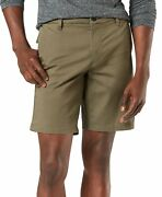 Dockers Men's Ultimate Supreme Flex Stretch Solid Shorts Earth Moss Brown 34