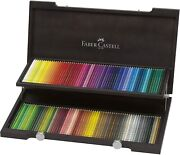 Faber-castell Polychromos Oil Coloured Pencil 120 Set In Wooden Box 110013