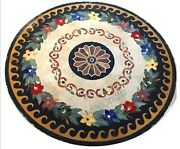 Round Marble Dining Table Top Antique Design Patio Center Table For Garden 36