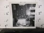 Vintage Photo 1957 Family Christmas Artificial Tree Presents Piano Holiday