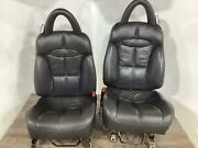 00-02 Plymouth Chrysler Prowler Front Seat Set With Headrests Agate Llaz