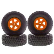 4 X Type A Tires Parts For 1/10 Short Course Truck Huanqi 727 Remo Dead Mouse 10
