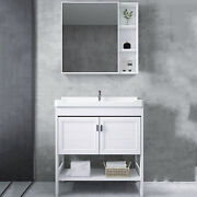 24bathroom Vanity And Sink Combo White With Faucet And Landing Bathroom Cabinet