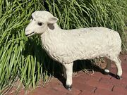 Vintage Extra Large Sheep Lamb Frankenmuth Mich Store Display