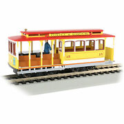 Bachmann Trains 60538 Cable Car And Grip Man Model Train Display, Yellow And Red