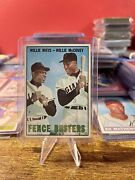 Willie Mays Willie Mccovey 1967 Topps 423 Fence Busters