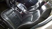 06-10 Hummer H3 Leather Seat Set W/ Console Lid Black 19i/gray See Description