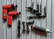 Jiffy Air Tool Custom Drill Kit With Pancake And Module Attachments.