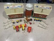Vintage Fisher Price Little People Play Family Farm 915tractor Horse