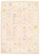 Vintage Geometric Hand-knotted Carpet 10and0392 X 14and0392 Traditional Wool Area Rug
