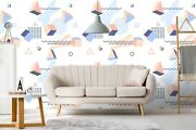 3d Pink Triangle Wood Zhu146 Wallpaper Wall Mural Removable Self-adhesive Zoe