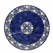 Blue Marble Kitchen Table Mop Stone Inlaid Work Dining Table Top For Home 36