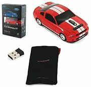 Scp Ford Mustang Gt-wireless Optical Car Mouse Blue Led 1750dpi Lb-lp700-4-yl