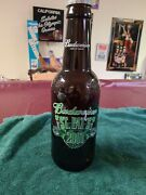 Lg. Budweiser King Of Beers Glass Beer Bottle Bank St. Pat's 2001