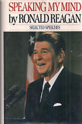 President Ronald Reagan Speaking My Mind Signed 1st Printing Of First Edition