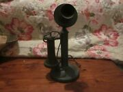 Western Electric Candlestick Telephone American Bell Transmitter Nice Condition