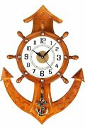 Handmade Ship Pendulum Wall Clock Kitchen Vintage Retro Home Best For Home Use
