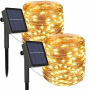 Solar Powered String Lights Outdoor2pack 240led Fairy Lights 8 Modes Christmas