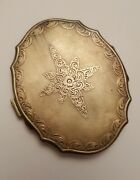 Antique Europe Sterling Silver 800 Compact Powder Box With Mirror