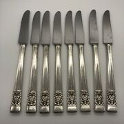 Set Of 8 Oneida Coronation Community Plate New French Hollow Knife Silver Plate