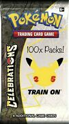 Pre-order 100x Sealed 25th Anniversary Celebrations Pokemon Booster Packs Wave 1
