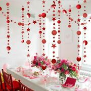 Christmas Home Decorations Paper Stars Garlands Xmastree Hanging Party Ornaments
