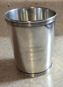 Newport Sterling Silver Banded Julep Cup Trophy Palm Beach Tennis Masters 118g