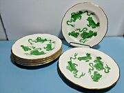 6 Wedgewood Williamsburg Green Chinese Tigers 6 Bread And Butter Plates