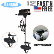 Hangkai 10hp Electric Brushless Outboard Motor Fishing Boat Engine Tiller Contro